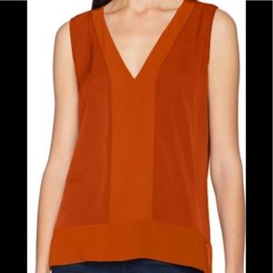 NWT French Connection Crepe Sleeveless Top XS
